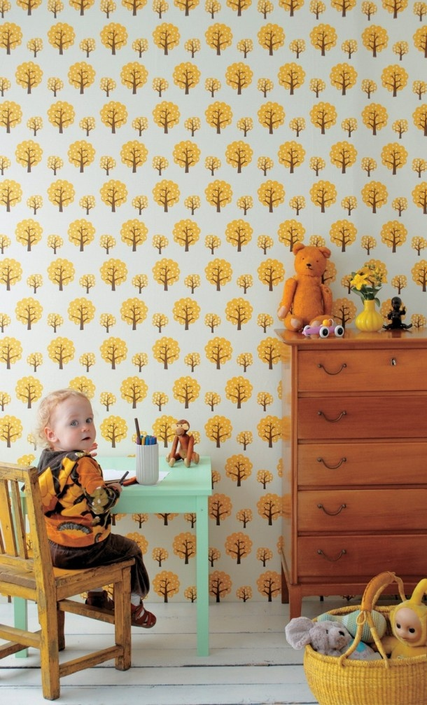 kinderkamer | Mooi behang kinderkamer Door hannahuitink