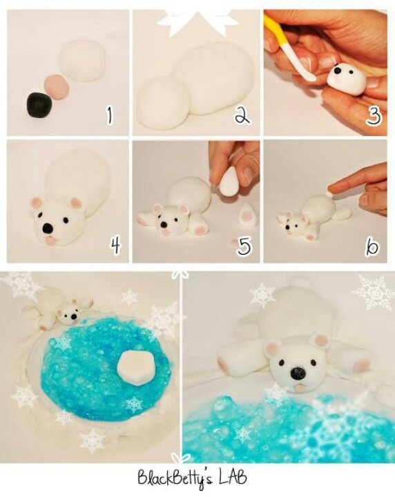 Polar bear gum paste