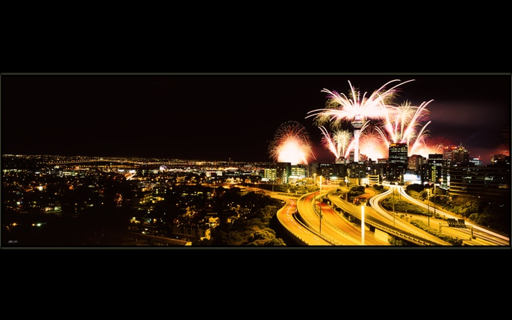 Rugby World Cup Fireworks 2011 by PhotoCPL  The year NZ redeemed itself and WON!