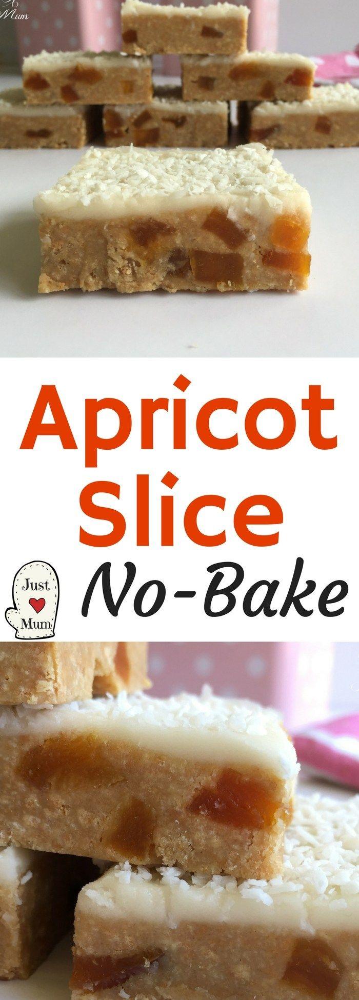 Just A Mum's No Bake Apricot Slice