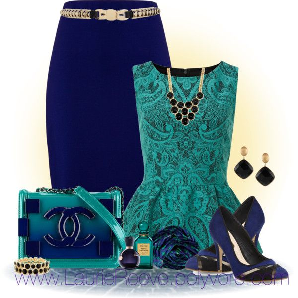 """""""#67 Green Peplum Top"""" by lauriereeve on Polyvore"""