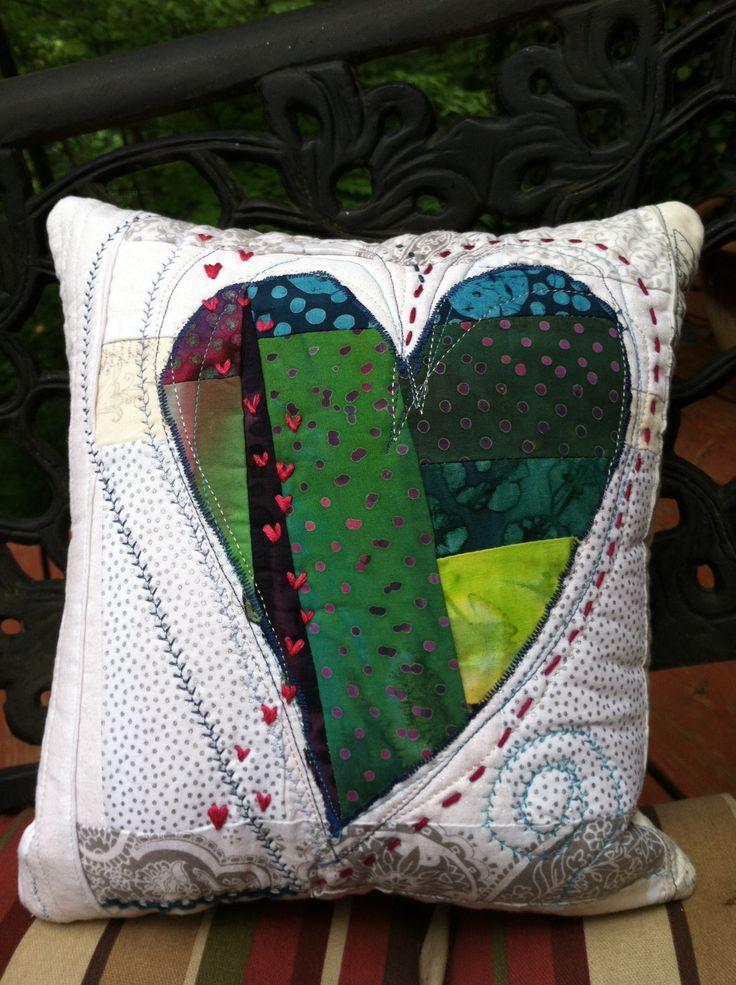 Heart Pillow by UrbanZenCoyote