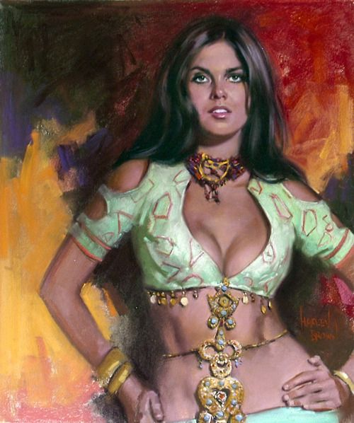Harley Brown — Caroline Munro from The Golden Voyage of Sinbad