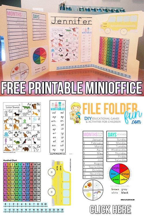 Free Mini-Office Printables (PreK-3)