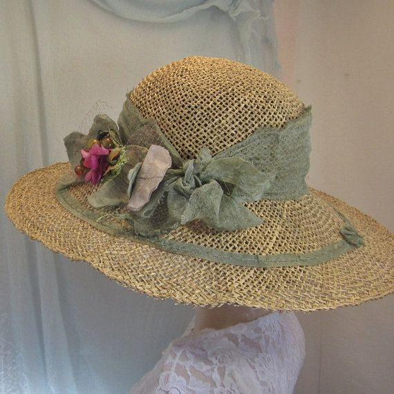 Summer seagrass straw hat shaped by hand for by savoirfairehats,