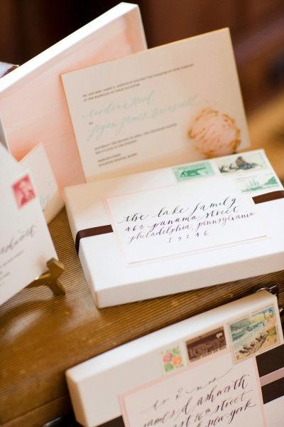 addressing boxes #wedding