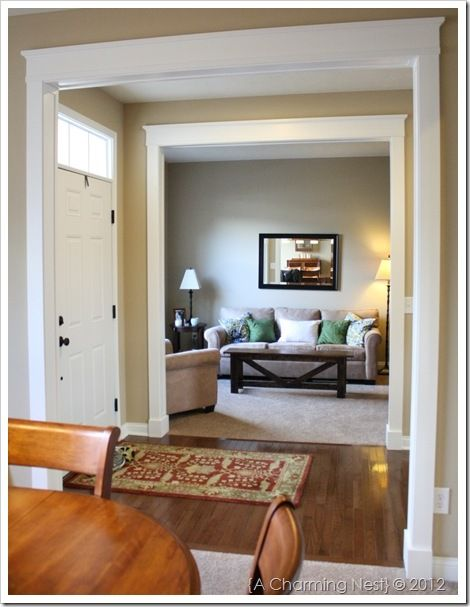 thinking about new door casings these are beautiful! (this is a blog that shows you how to DIY... I won't be doing that!)