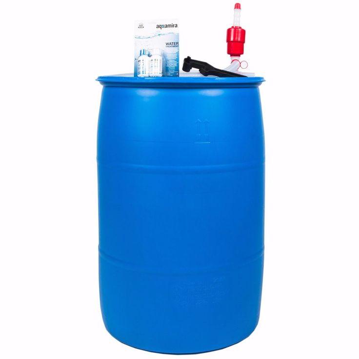 Emergency Water Storage Container Tank Barrel Hose Gallon Pump Hose Farm Garden #Unbranded