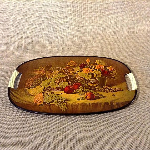 Decorative Fiberglass Serving Tray with Handles  Features
