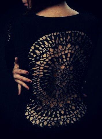 ::: OutsaPop Trashion ::: DIY fashion by Outi Pyy ::: DIY inspiration- doily? :)