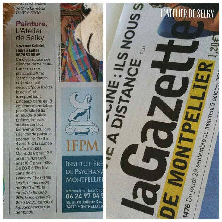 La presse parle de l'Atelier de Selky - article dans la Gazette de Montpellier #arnostern #jeudepeindre #atelierdeselky