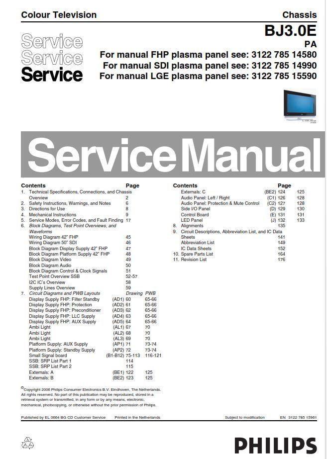 philips service manual tv