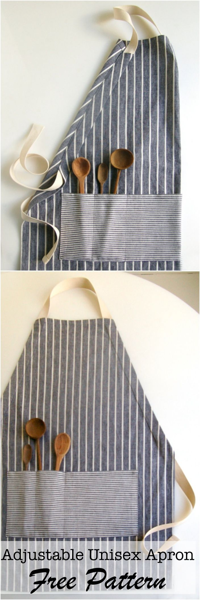 Free Adjustable Unisex Apron Tutorial