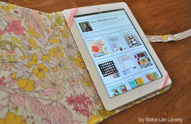 Upcycled Fabric iPad Case- This DIY iPad case is not only functional, but…