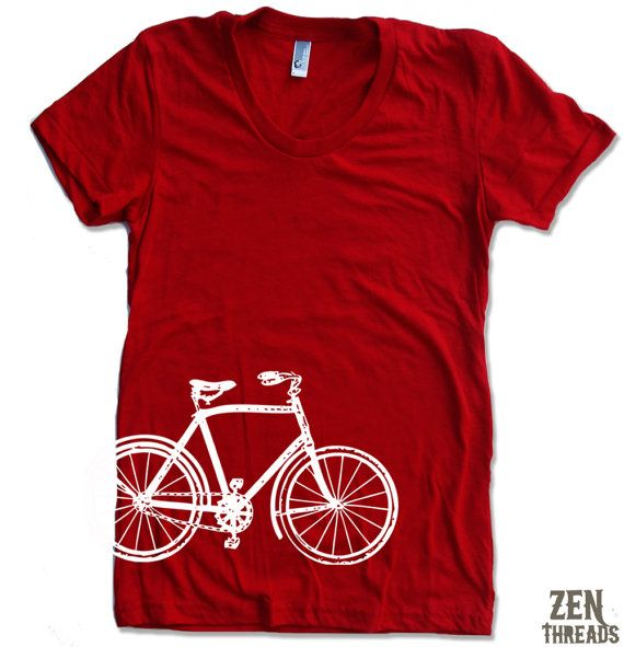 Womens VINTAGE BICYCLE T Shirt american apparel S M by ZenThreads, $18.00