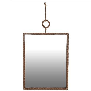 Large Rope Framed Mirror, available at Browsers, Limerick, Ireland. www.browsers.ie