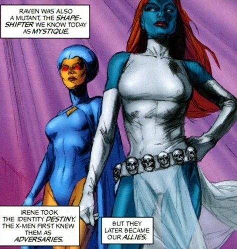 Mystique Destiny They raised Rogue!!!! Fricking sweet. Rogue is my favorite