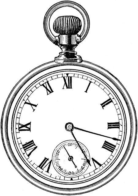 Pocket-Watch-Photo-Drawing.jpg (451×640)