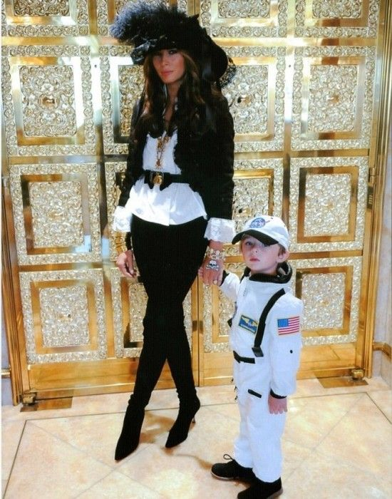 Melania Knauss Trump and son Barron Trump.......WIFE #3