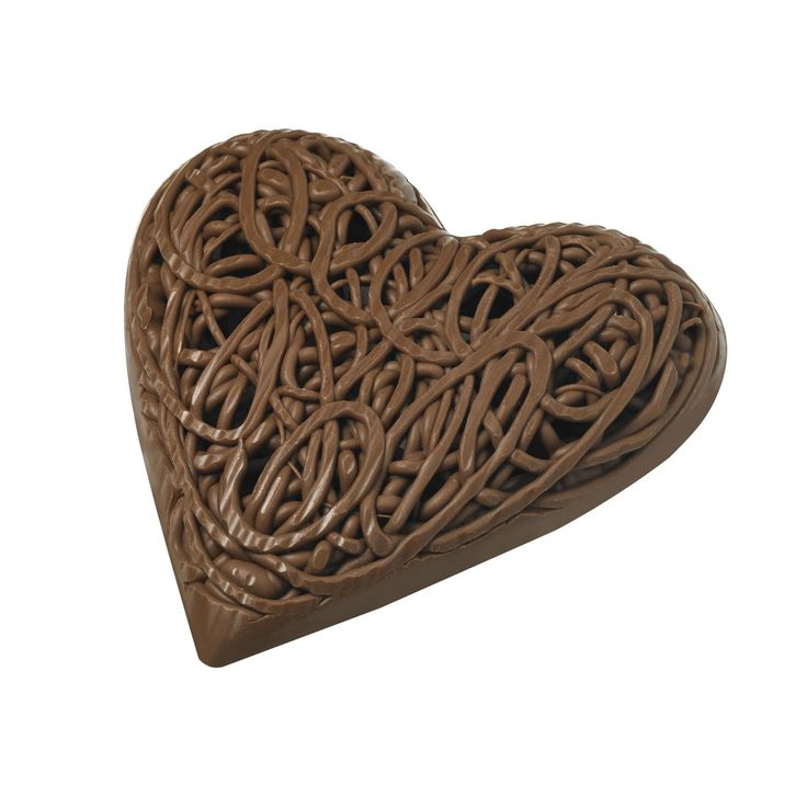 Menu de la Saint-Valentin : un coeur en chocolat De Neuville, 22,80€