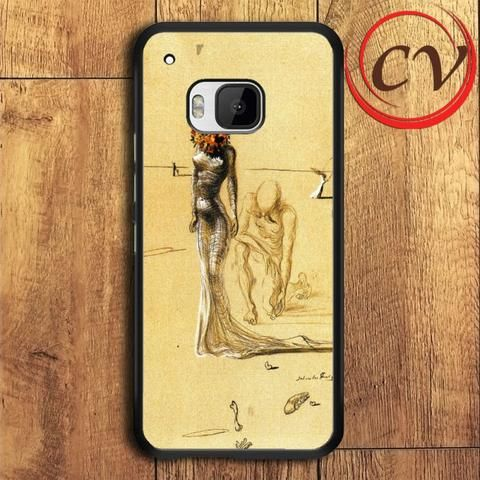 Woman With Flower Salvador Dali HTC One M9 Black Case
