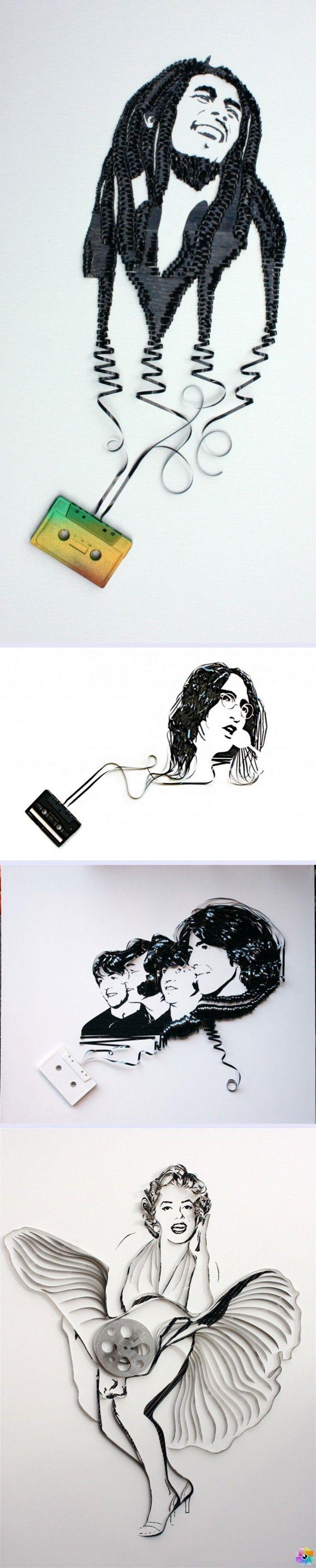 Pop Kültür İkonlarının Kasetlerden Portreleri www.4finite.com