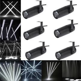 6pcs 10w Mini Led Beam Spotlight Stage Light Dj Disco Bar Spin Pinspot