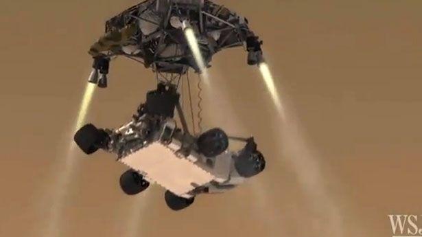 mars rover sky crane - photo #6
