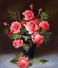 3D 5D DIY алмаз живопись красный цветок ваза горный хрусталь комплекты алмаз вышивка рукоделие комплект дешевое бесплатная доставка(China (Mainland))