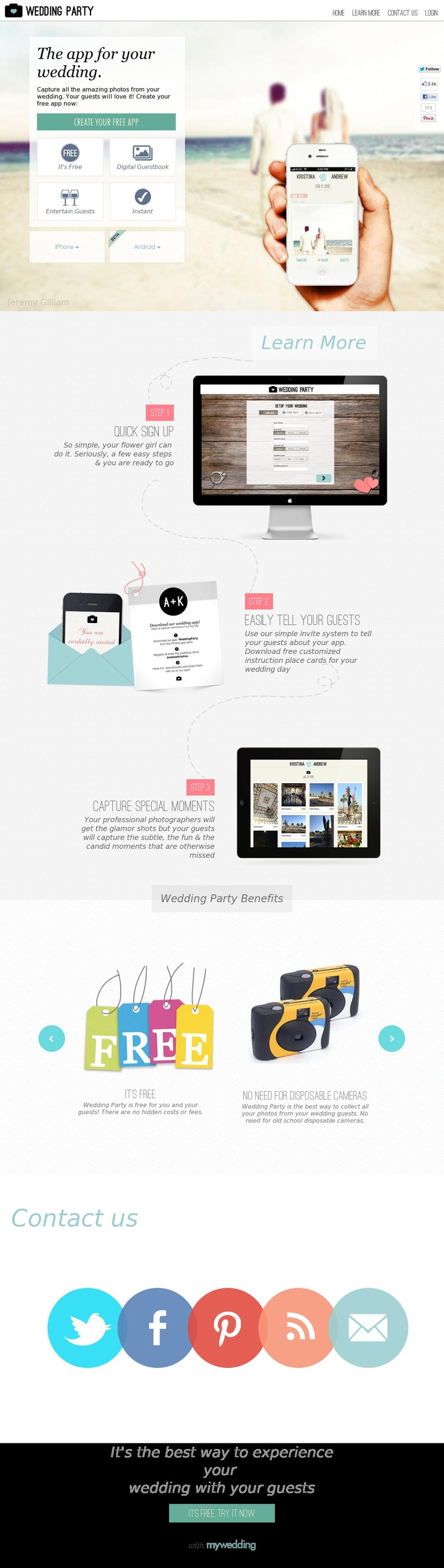 38 best selected images on pinterest website designs wedding party app junglespirit Choice Image