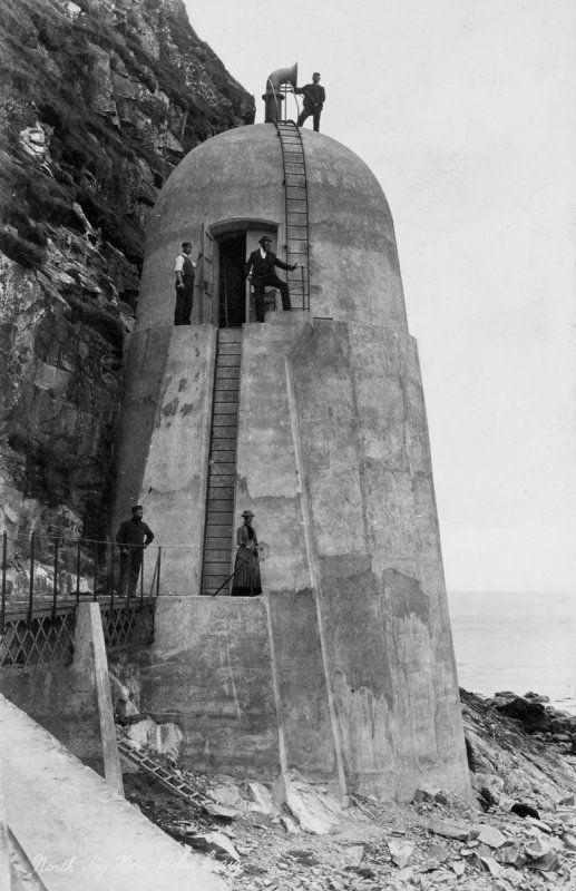 AILSA CRAIG Foreland Point, Lighthouse, Keepers' Cottages And Foghorn ; Firth of Clyde built in1886.Scotland