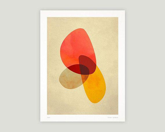 Abstract Geometric Print, Printable Wall Art, Digital