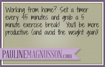 Work from home tips - boost your productivity  with exercise
