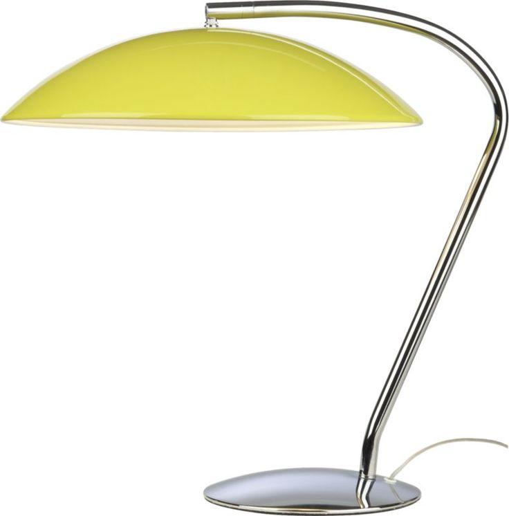 atomic yellow table lamp  | CB2