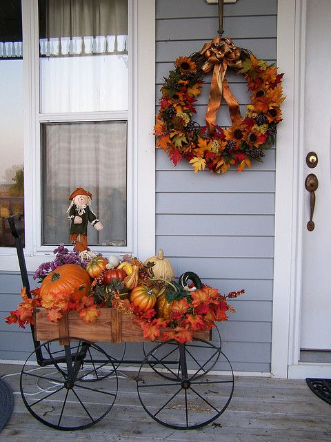 25 best ideas about fall wagon decor on pinterest for Idea deco guijarro exterior