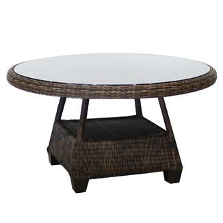 """Four Seasons Rnd. Dining Table BY CASUALIFE D 48"""" W 48"""" H 31""""  Tobacco"""