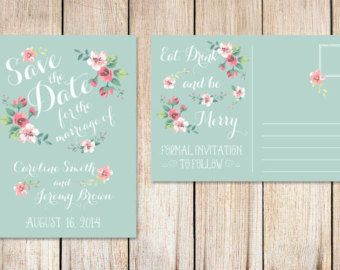 Printable Christmas Save the Date Card Xmas Save the by plpapers