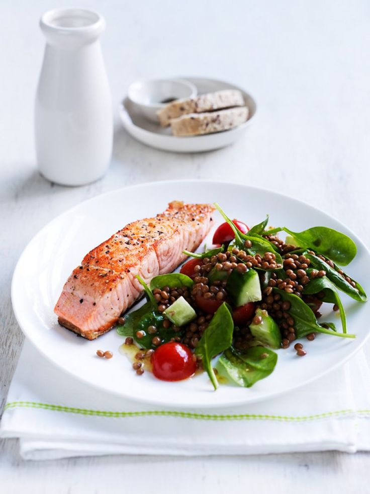 Seared salmon with lentil salad | The Heart Foundation