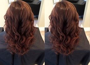 A dark, rich chestnut hair color with some very subtle red and gold highlights