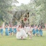 I could see this happening - Here's The Best T-Rex Attacks Wedding Party Photo You'll See Today