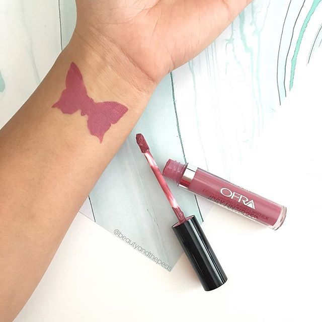 "Swatch of the @ofracosmetics liquid lipstick in ""Ipsy Unzipped"" from the @ipsy December glam bag. Use code ""PINNER"" for 30% off. https://www.ofracosmetics.com/products/long-lasting-liquid-lipstick-unzipped"