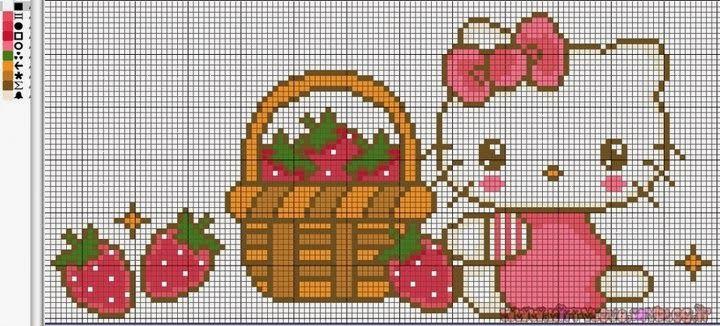 Ponto Cruz e Mais: Hello Kitty em Ponto Cruz