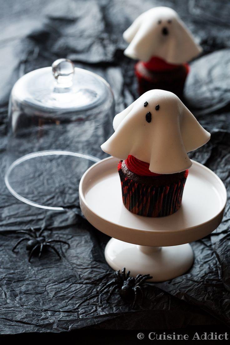 Cupcake Fantôme façon Forêt-Noire