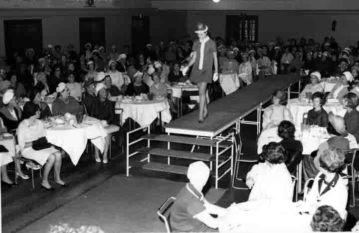 MP 6817. Fashion parade at the Mayoress reception in the Malvern Town Hall; 10 October 1968