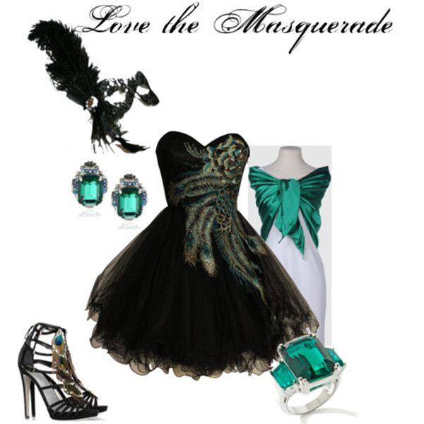 black masquerade dresses outfits