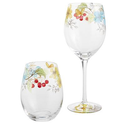 Tableware - Enchanted Floral Stemware for Easter, Mother's Day, Passover, Rehearsal dinner, Engagement party other spring adult party (($))