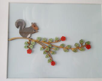 Our Family button tree