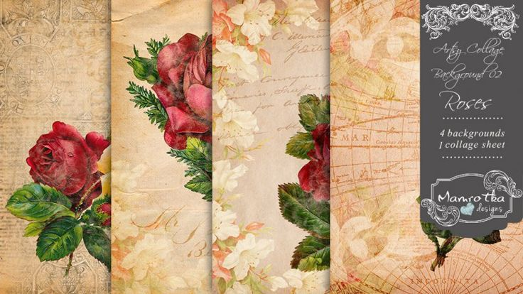 Artsy Collage Background 02 - Roses