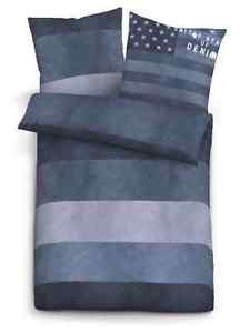 "Tom Tailor Linon Bettwäsche ""Jeans Style"" aus 100% Baumwolle"