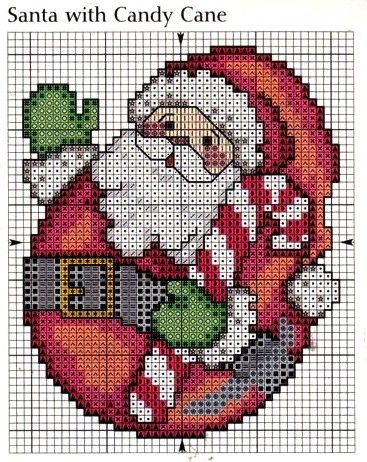 ♥ My point Graphs Cruz ♥: Father Christmas in Cross Stitch